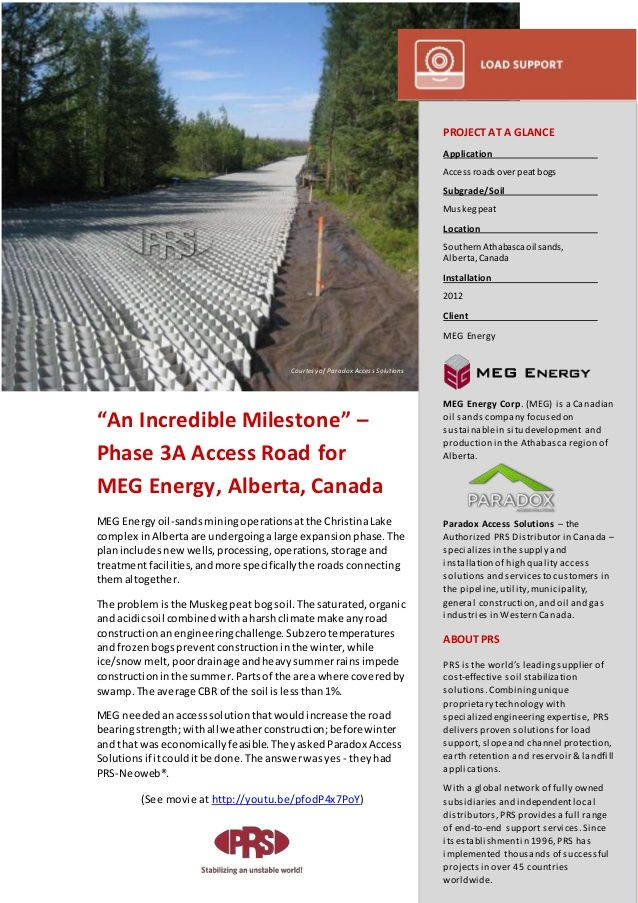 """""""An Incredible Milestone"""" – Phase 3A Access Road for MEG Energy, #Canada"""