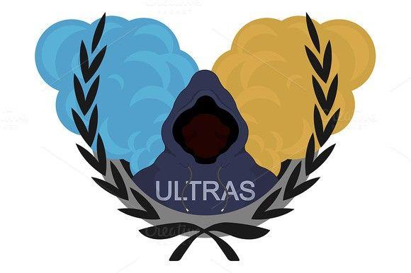 Football fan. Ultras logo. Vector. Sport Icons. $5.00