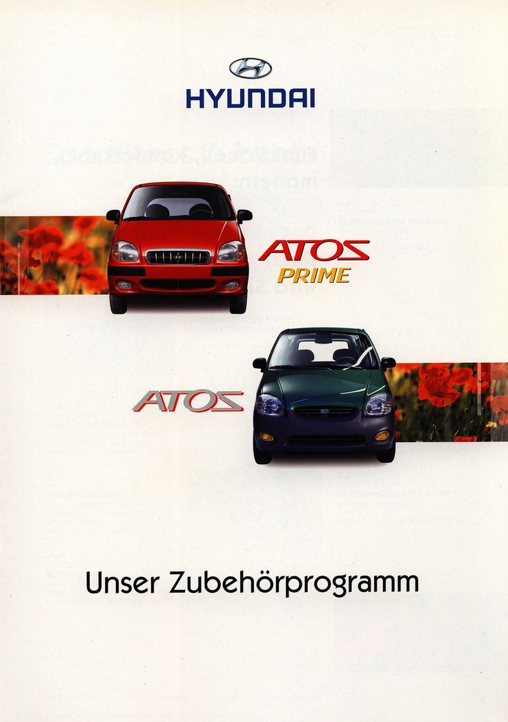 https://flic.kr/p/F9hu9y | Hyundai Atos, Atos Prime Unser Zubehörprogramm; 2000 | car brochure by worldtravellib World Travel library