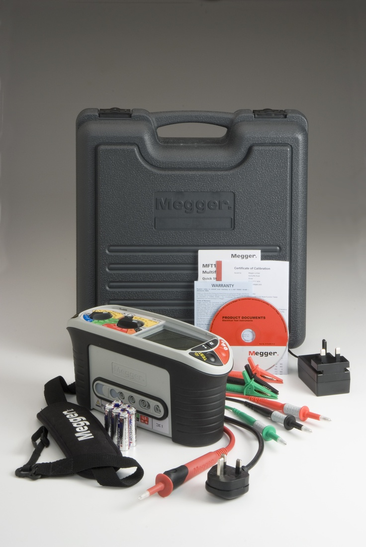Megger MFT1730 Multifunction Tester for checking and certifying electrical installations to the UK 17th edition wiring regulations