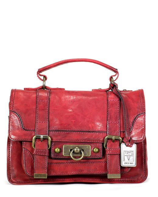 Country Outfitters - Cameron Small Satchel - Burnt Red.  Country style purse