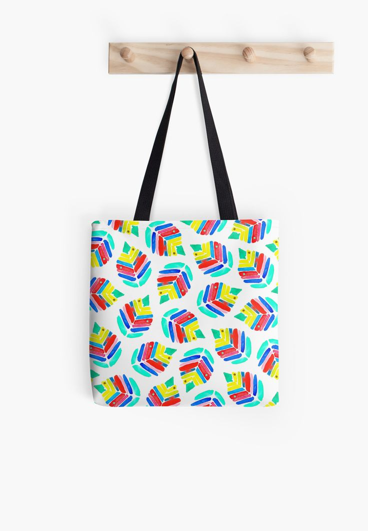 Birch watercolor pattern. Inspired by summer colors • Also buy this artwork on bags, apparel, stickers, and more.@redbubble WAtercolor Birch pattern design by Amaya #art #bag #fashion #watercolor #tote #bags #baglove #coloraddict