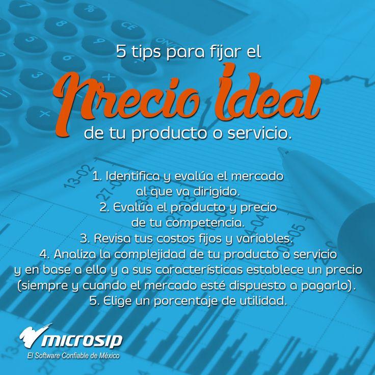#TipsMicrosip 5 tips para fijar el precio ideal de tu producto o servicio