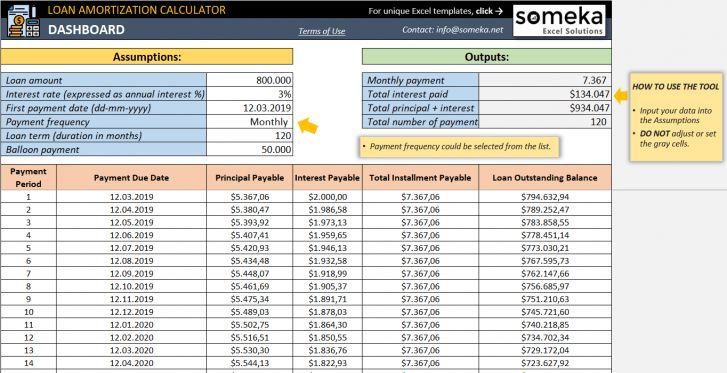 Loan Amortization Calculator Amortization Schedule Excel Templates Loan