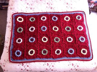 This is an intermediate skills level, but not really difficult. Makes a full size afghan, but I made it half size for a baby blanket. It was rather quick to crochet, no fancy stitches. Directions w...