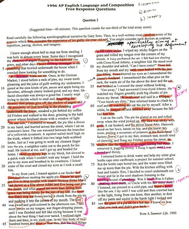 Analytical essay gary soto 1996 resume template ott