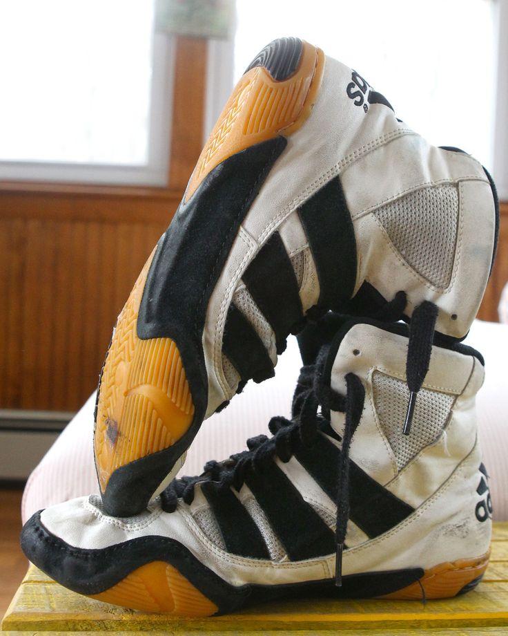 Adidas Adistar White Wrestling Shoes