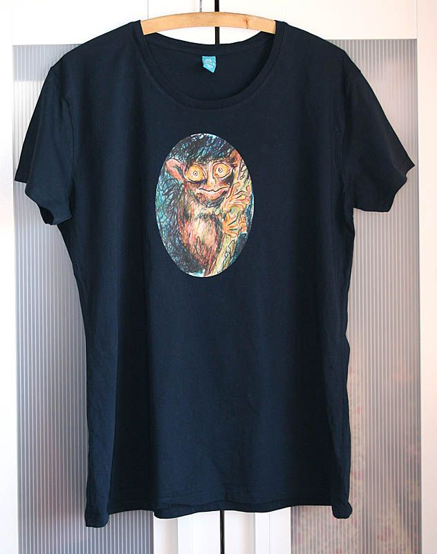 """T-Shirtdruck von selbstgemaltem Bild """"Koboldmaki"""""""