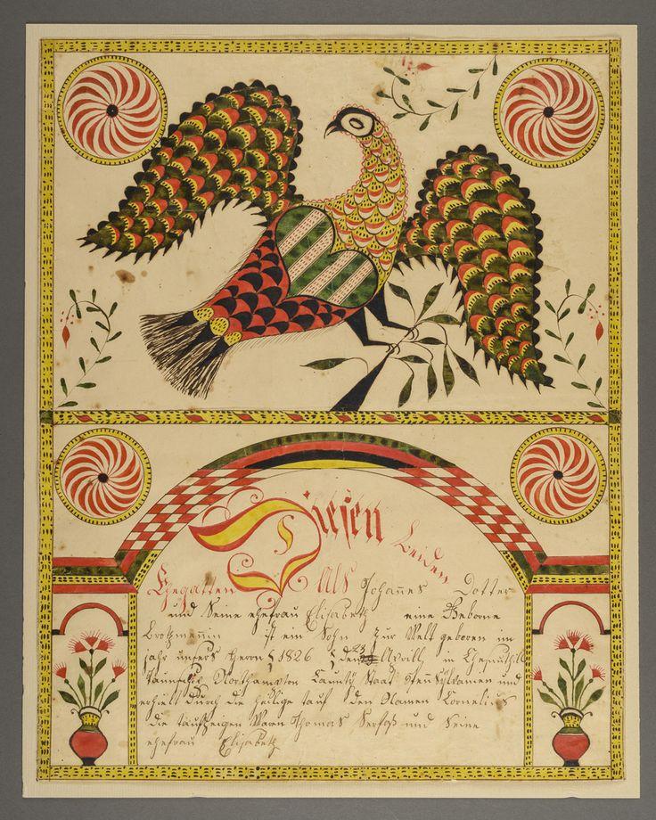 191 best Frakturs images on Pinterest | Pennsylvania dutch, Folk art ...