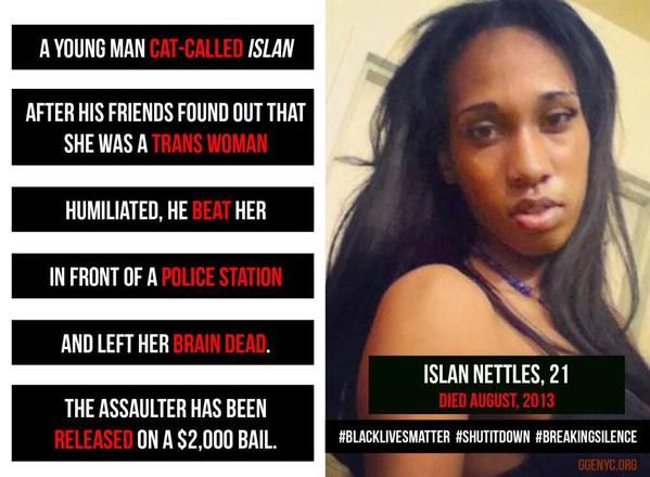 One mans pride is worth more than the life of a woman. Her attacker doesn't get to decide her gender.