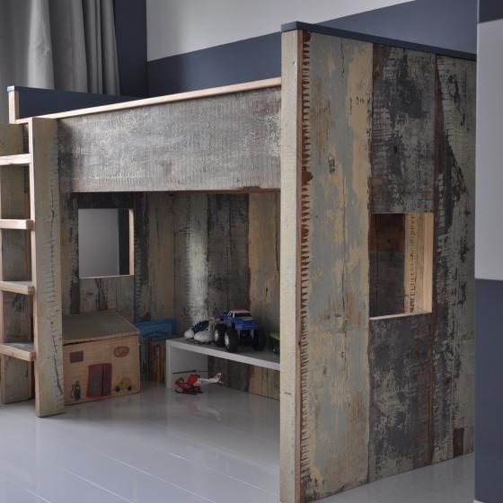 Kinderkamers | MAEK meubels & keukens Hoogslaper van sloophout
