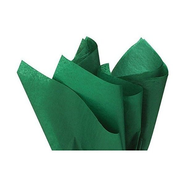 """EMERALD GREEN Tissue Paper 15"""" X 20"""" 100 Sheets ❤ liked on Polyvore featuring home, bed & bath, bedding, bed sheets and emerald green bedding"""