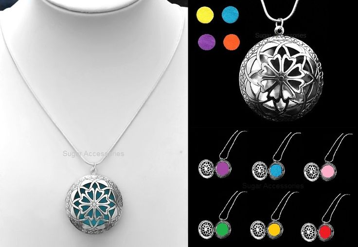 AROMATHERAPY OIL DIFFUSER LOCKET NECKLACE