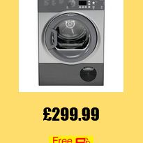 Packed full of features, the stylish Hotpoint Aquarius FTCF87BGG Condenser Tumble Dryer takes the chore out of laundry days. Sensor drying Engineered with Hotpoint's 'Set and Forget' drying system, the tumble dryer uses intelligent sensors to monitor the moisture and temperature inside the drum. Preset the level of dryness you're looking for and your Aquarius FTCF87BGG will automatically stop at the desired level, including damp, hanger, light, cupboard dry and more.