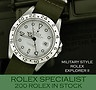 Superb Military style steel Rolex Explorer II - All usual dealer facilities. www.itemsofbeauty.co.uk - Rolex watches, Rolex watches for sale, wanted and part exchange. Telephone 01342 323982. Open 6 days a week.
