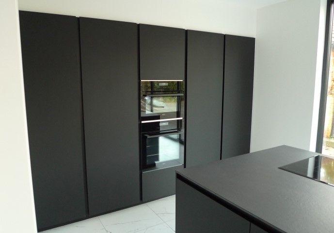 Fenix Mat Zwart Keuken Zwart Zwarte Keukens Keuken Idee