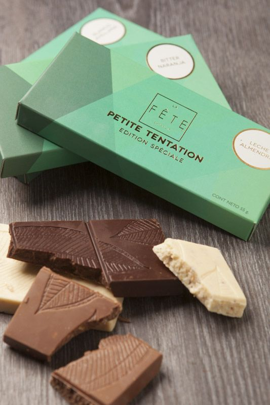 Exquisite chocolate bars with nougat. From the La Fête Christmas collection. #lafetechocolat