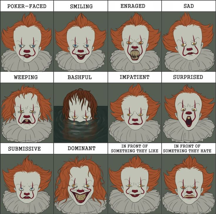 Pennywise expressions by Funny-horsey.deviantart.com on @DeviantArt