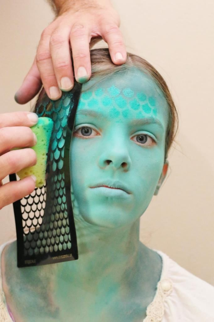 Full Face Mermaid Princess Design   Mermaid face paint ...