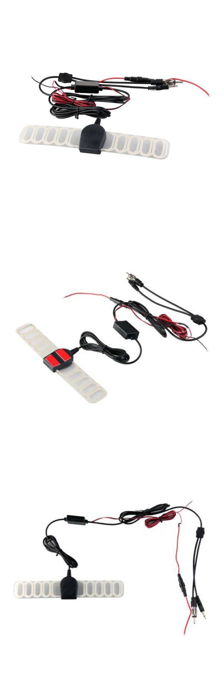 [Visit to Buy] Hot Sale Car Auto TV Digital DVB-T FM Radio Antenna Aerial Amp Amplifier Booster #Advertisement