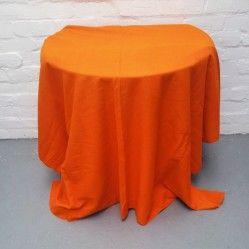 1970s' vintage orange curtains vintageactually.co.uk