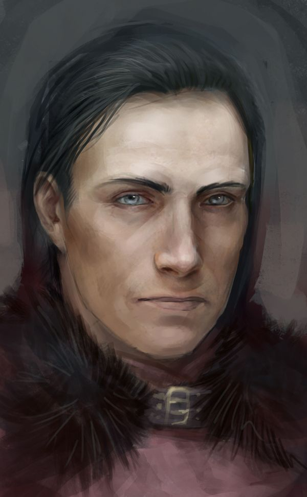"Roose Bolton by NotanerArt. ""Roose has no feelings, you see. Those leeches that he loves so well sucked all the passions out of him years ago. He does not love, he does not hate, he does not grieve. This is a game to him, mildly diverting. Some men hunt, some hawk, some tumble dice. Roose plays with men."""
