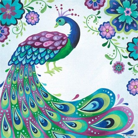 Dress up a bare wall with the Floral Peacock Canvas Wall Art from Oopsy Daisy. Canvas wall art is perfect for adding color and style to bedrooms, playrooms, nurseries and even bathrooms!