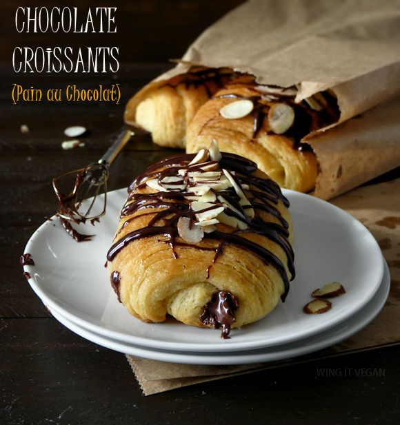 Pain au Chocolat (Vegan Chocolate Croissants)