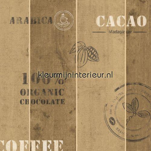 Behang koffiekistje van manhattan as creation voor op for Manhattan beige paint color