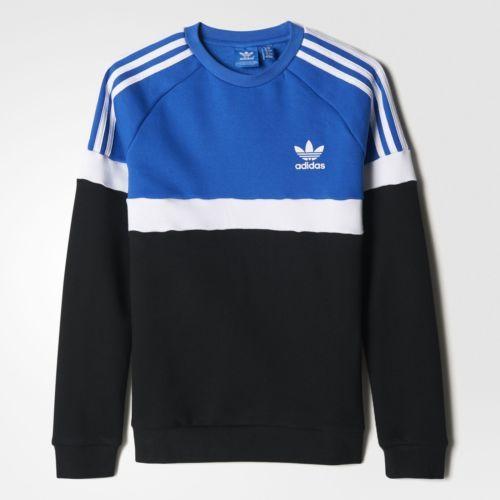 Adidas-Azul-En-Colores-Vivos-Sudadera-Ninos