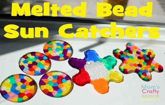 website: Mom's Crafty Space: Melted Bead Sun Catcher Tutorial--Now it's my turn to want to make this!