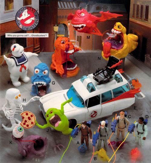 1990's ghostbusters toys!