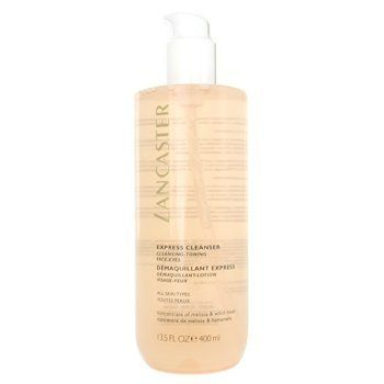 Express Cleanser for Face & Eyes ( All Skin Type ) - Lancaster - Cleanser - 400ml/13oz by Lancaster. $38.44. 400ml/13oz. A 3-in-1 cleansing lotion without need of rinsing Combines duo flowers: Witch Hazel nectar & Lemon Balm water extract Removes eye makeup Dissolves makeup & impurities on face Tones & clarifies skin Leaves skin perfectly clean, soft & toned - Lancaster - Cleanser