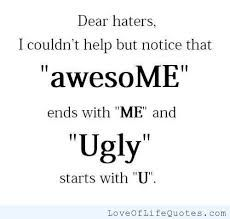 Let dem haters hate
