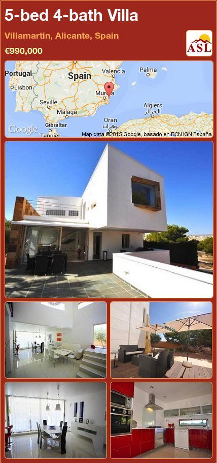 5-bed 4-bath Villa in Villamartin, Alicante, Spain ►€990,000 #PropertyForSaleInSpain