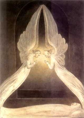 William Blake British, 1757 - 1827 Christ in the Sepulchre, Guarded by Angels