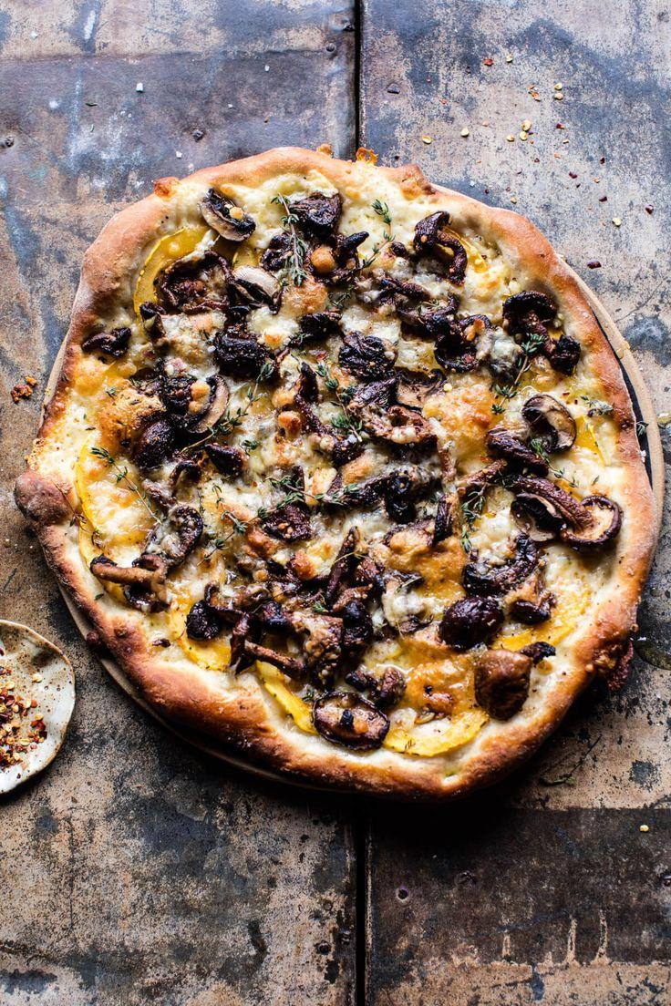 Balsamic mushroom and goat cheese pizza by Half Baked Harvest. Vegetarian wedding breakfast ideas #vegetarian #wedding #catering