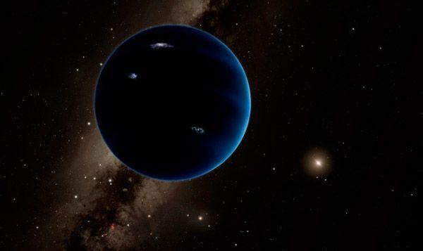 В представлении художника так может выглядеть гипотетическая девятая планета солнечной системы