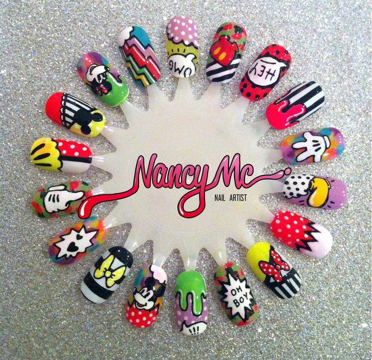 Mickey Mouse  #nailart #nails #nailpolish