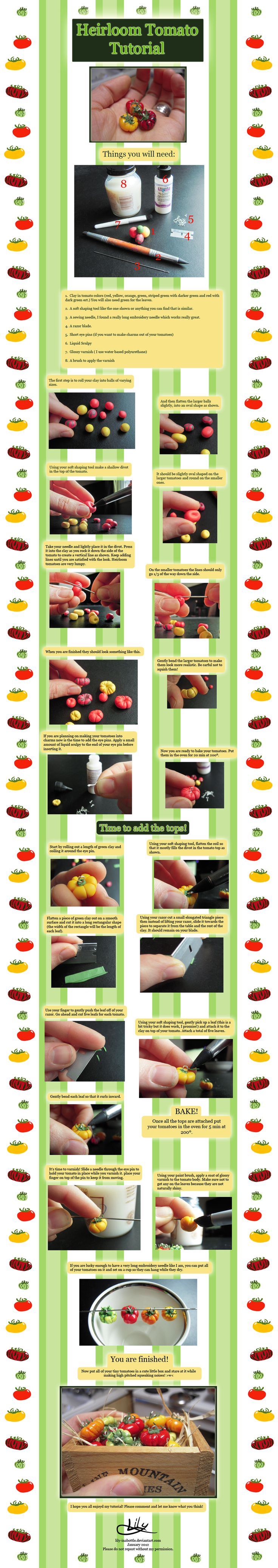 polymer Heirloom Tomato Tutorial by lily-inabottle.deviantart.com on @deviantART