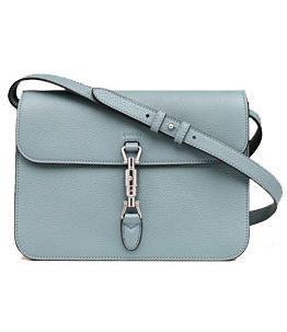 Gucci  Jackie leather flap shoulder bag