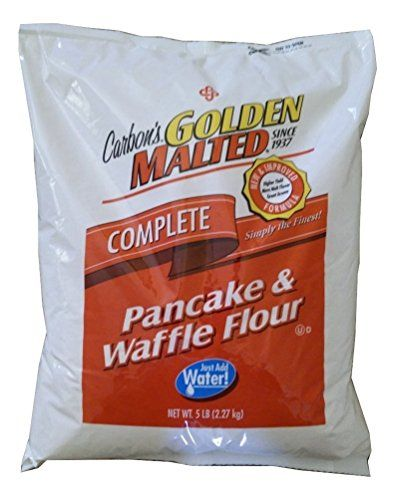 Carbons Golden Malted Pancake and Waffle Flour Mix  5 Pound Bag  Complete Mix  Just Add Water ** Continue to the product at the image link.