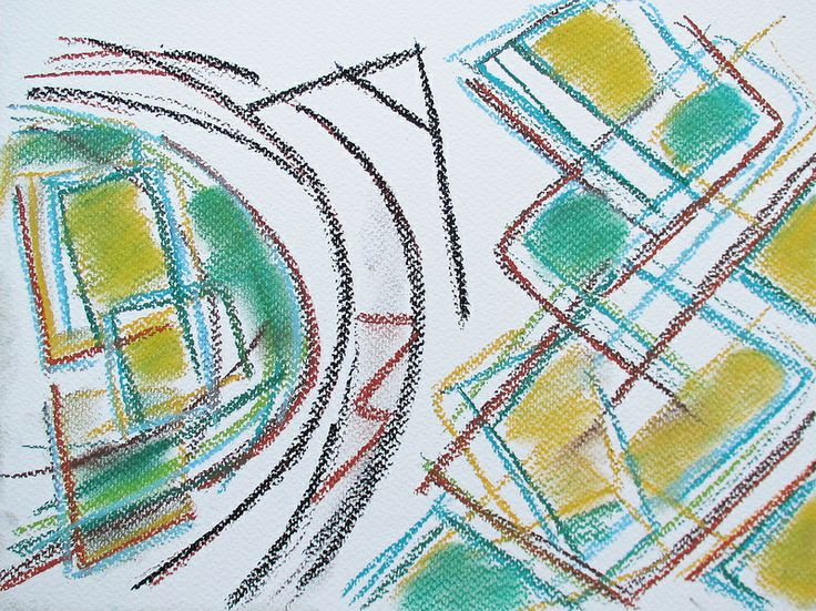 Railway track in Russia #art #pastels #railway #russia #travel #train #abstract #drawing #nature