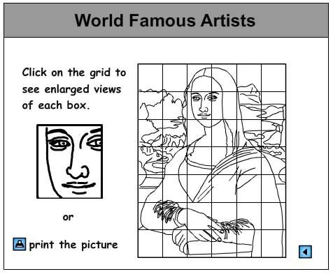 Enlargement Activity, Art skills online, interactive activity lessons