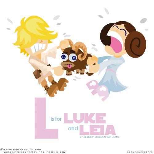 Star Wars AlphabetGeek, Starwars Alfabeto, Brandon Peat, Brandon Emma Peat L, Wars Alphabet, Star Wars, Leia, Stars Wars, Luke