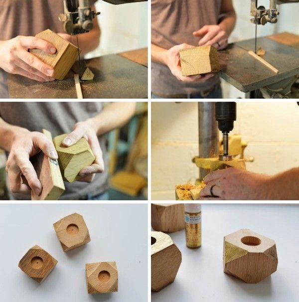 coloridas macetas de madera