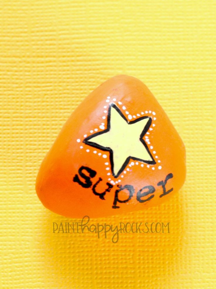 Easy Rock Painting Ideas   Super Star Painted Rocks at PaintHappyRocks.com #PaintHappy