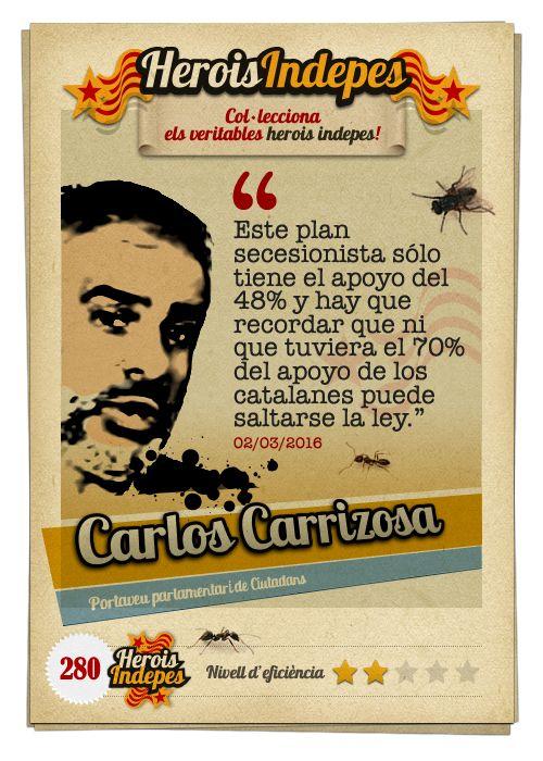 """#HeroisIndepes 280. Carlos Carrizosa: """"Este plan secesionista solo tiene el apoyo del 48% y hay que recordar que ni que tuviera el 70% del apoyo de los catalanes puede saltarse la ley."""""""
