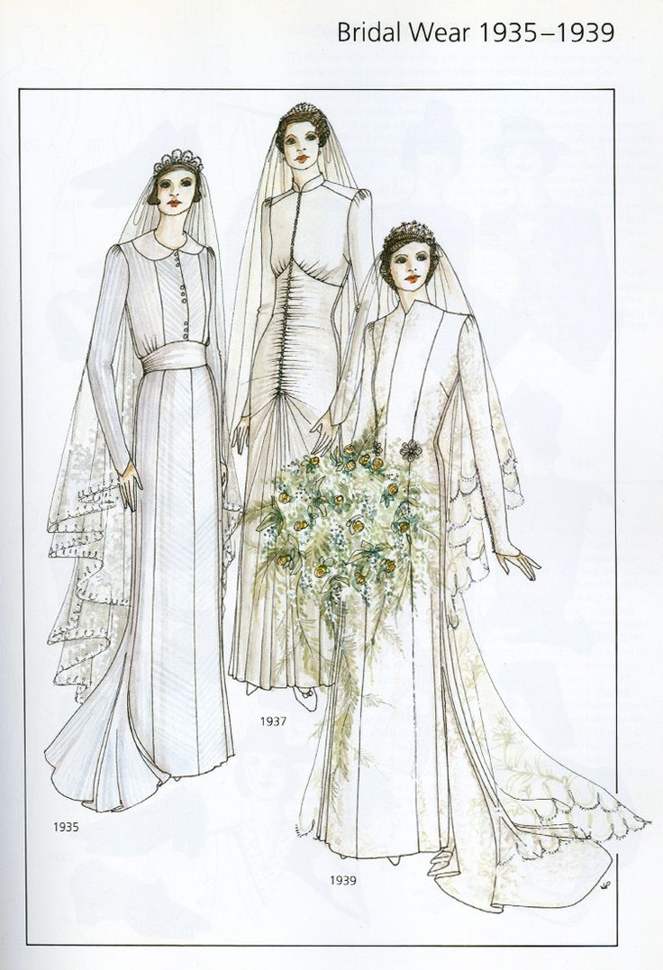 The 18 best Wedding Gown Illustration - 20th Century images on ...