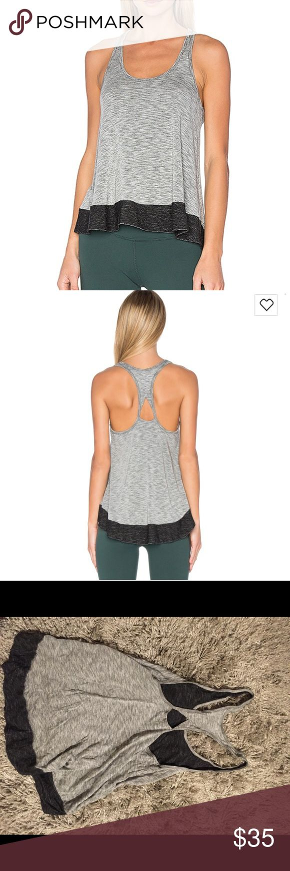 Beyond Yoga soft tank top Beyond Yoga new with tags! Gray with peep hole in the back Beyond Yoga Tops Tank Tops